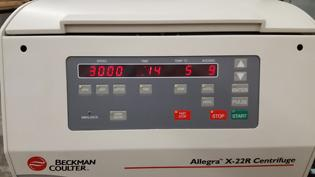 Beckman Coulter Allegra X-22R Centrifuge Display Panel